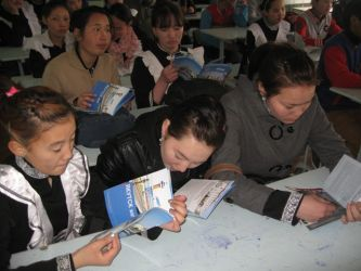 128. During competition among Mongolian school-pupils