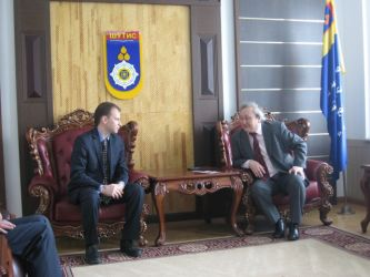 129. Meeting of Rector MGUNT professor Batbayar Tudev with Head of MPEI International Cooperation Department Alexander Tarasov
