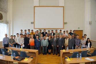 143. Participants of MPEI foreign alumni meeting in 2013 with MPEI and Rector and MPEI Administration