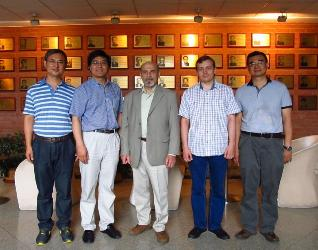 149. During the visit to Tsinghua University (From left to right: Professor of Tsinghua University Jialin Sun, MPEI alumni Prof. Peixue Jiang, B. Rinkevichyus, I.Pavlov)