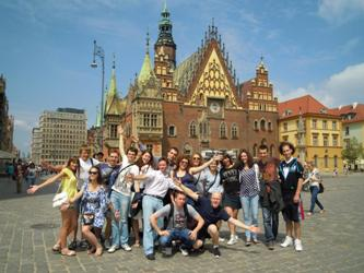 150. In the center of Wroclaw (Rynek) during students` exchange program