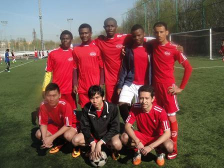 190. The MPEI team for mini-football (students from Myanmar, Columbia, Nigeria, Yemen)