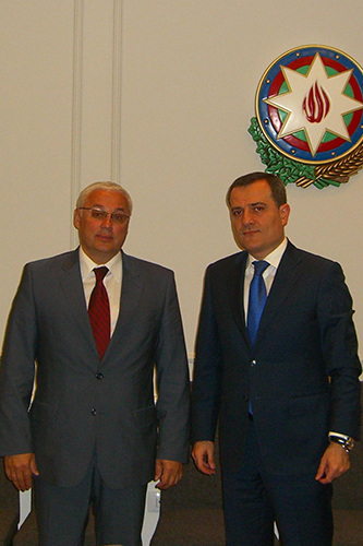 204. MPEI Rector Nikolay D. Rogalev and Deputy Minister of Education of the Republic Azerbaijan Bayramov Ceyhun Aziz oglu