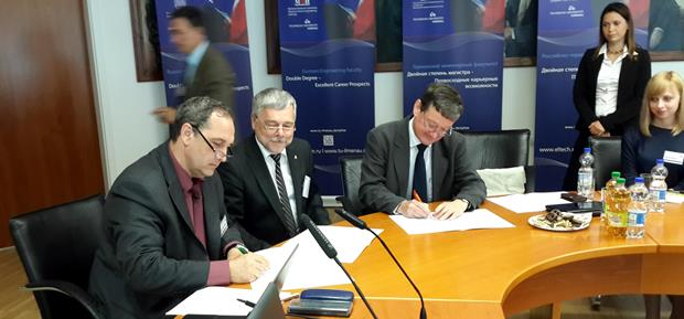 209. MPEI Vice-Rector V. Zamolodchikov signing the letter of intentions at TU Ilmenau