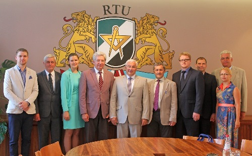 213. Meeting at Riga Technical University (MPEI Rector N. Rogalev and RTU Rector Leonids Ribickis in the middle)