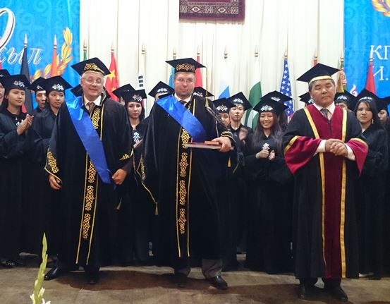 225. Honored doctors N.D. Rogalyov and V.N. Vasiliev in Kyrghizian state technical university