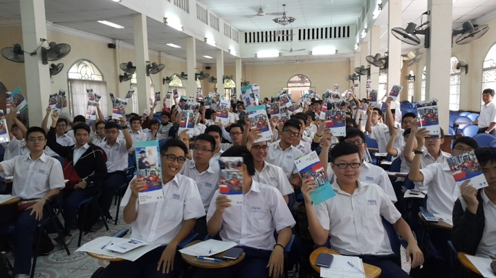"244. At selection stage of the Competition ""It is a time to study in Russia!"" in Hoshimin-city (Vietnam)."