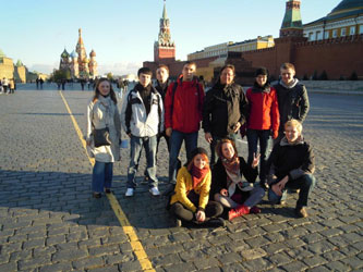 34. German delegation of students exchange program from Ilmenau at Red Square