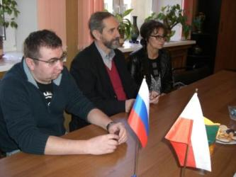 46. (from left to right): Rector Advisor Mr, Artem Volkov, Vice-Rector on research and international relation Kazimierz Meredyk (center)