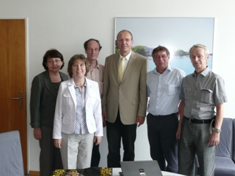 64. Vice-Rector of HTWG Konstanz Gunter Voigt (in the center) and the Head of International Department Klemens Blass with the MPEI teachers: Irina Nikitina, Irinf Ilina, Sergey Fedorovich and Vadim Prokhorov