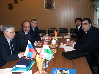 9. Negotiations with Minister on Education (Republic of Tajikistan) A.A. Rakhmonov in MPEI concerning the establishment of MPEI Branch in Dushanbe