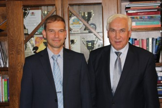 97. During a working meeting of the Head of MPEI International Cooperation Department A.E. Tarasov with Rector of the University of Finance and Management in Bialystok professor Jozef Szablowski